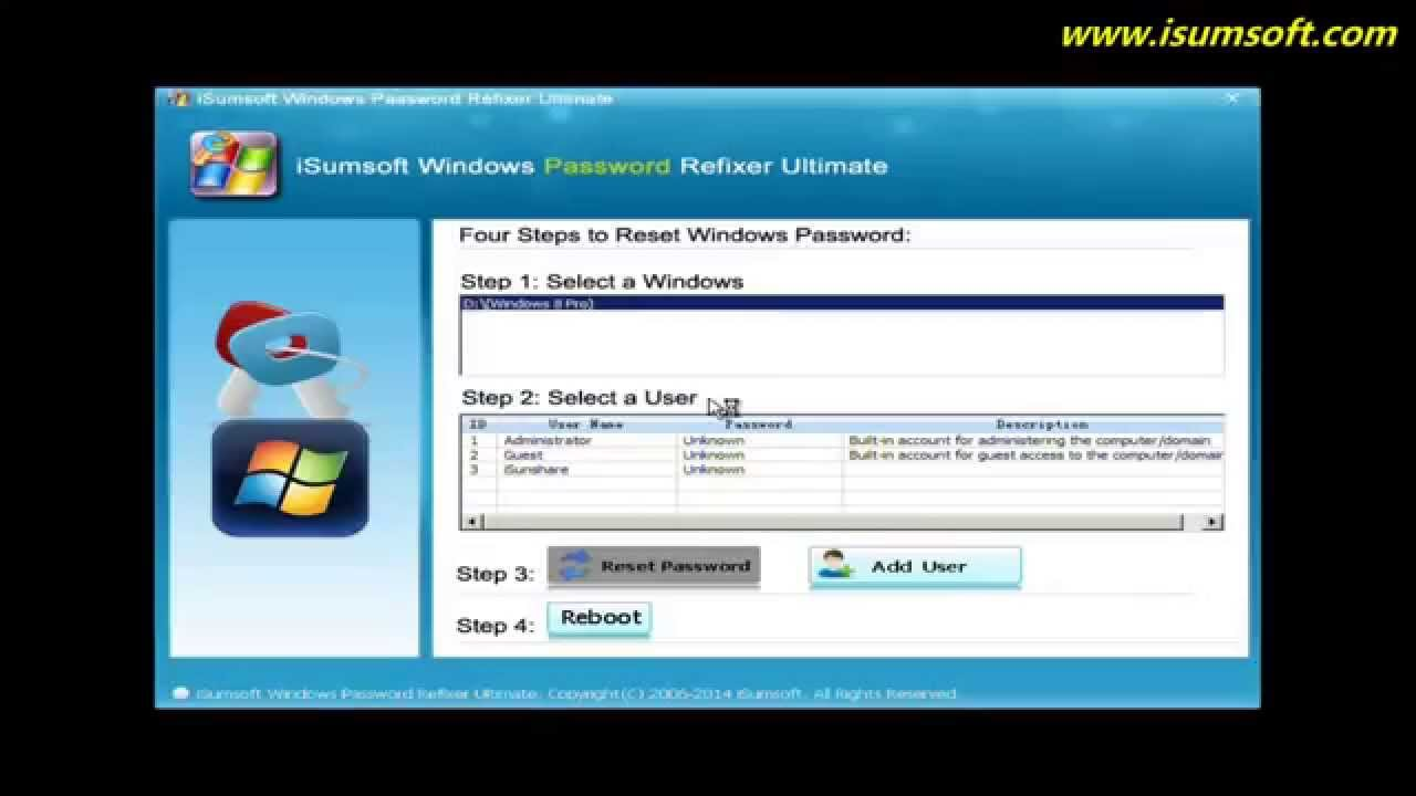 isumsoft windows password refixer ultimate full version