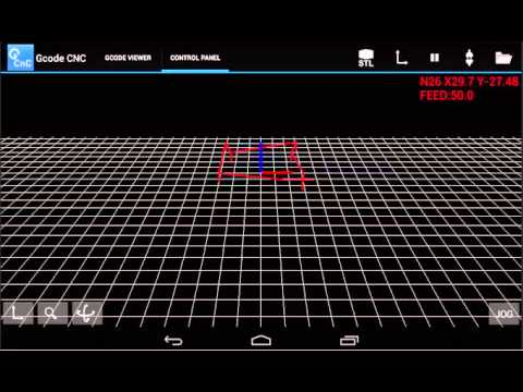 GCODE CNC app for android with stl viewer