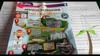 Nouveauté fdj : MISSION PATRIMOINE à 15€. Le plus gros des tickets à gratter !