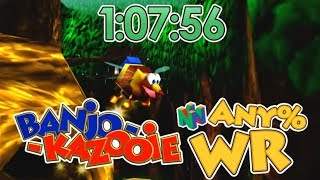 Banjo-Kazooie Nintendo 64 Any% Speedrun in 1:07:56 [WR]