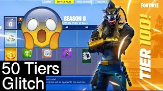 HOW TO GET 50 FREE TIERS! *NEW BUG IN THE SYSTEM* (Fortnite Glitch!)
