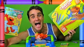 Crayola Crayon Carver & Sesame Street Potty Time Coloring Book ! ||  Toy Unboxing || Konas2002