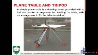 plane table surveying lec part 01 by md hamidul islam lecturer dept of becm kuet
