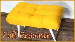 Puff Decorativo Requinte – Feito com materiais alternativos
