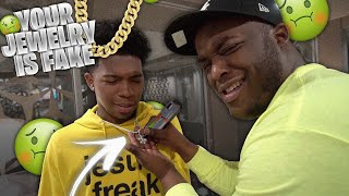 Download Testing Deshae Frost Jewelry With A FAKE Diamond Tester | HE THOUGHT HIS $20,000 CHAIN WAS FAKE Mp3 and Videos
