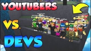 BIGGEST ROBLOX COLLAB EVER!!! (YOUTUBERS VS DEVS)