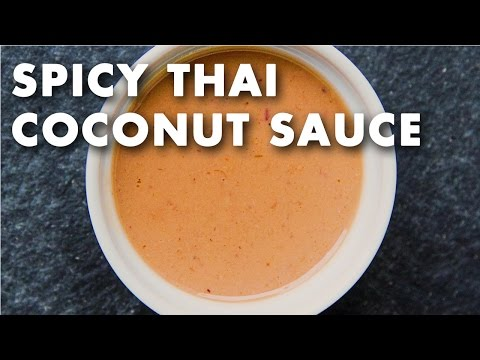Spicy Thai Coconut Sauce Recipe Video