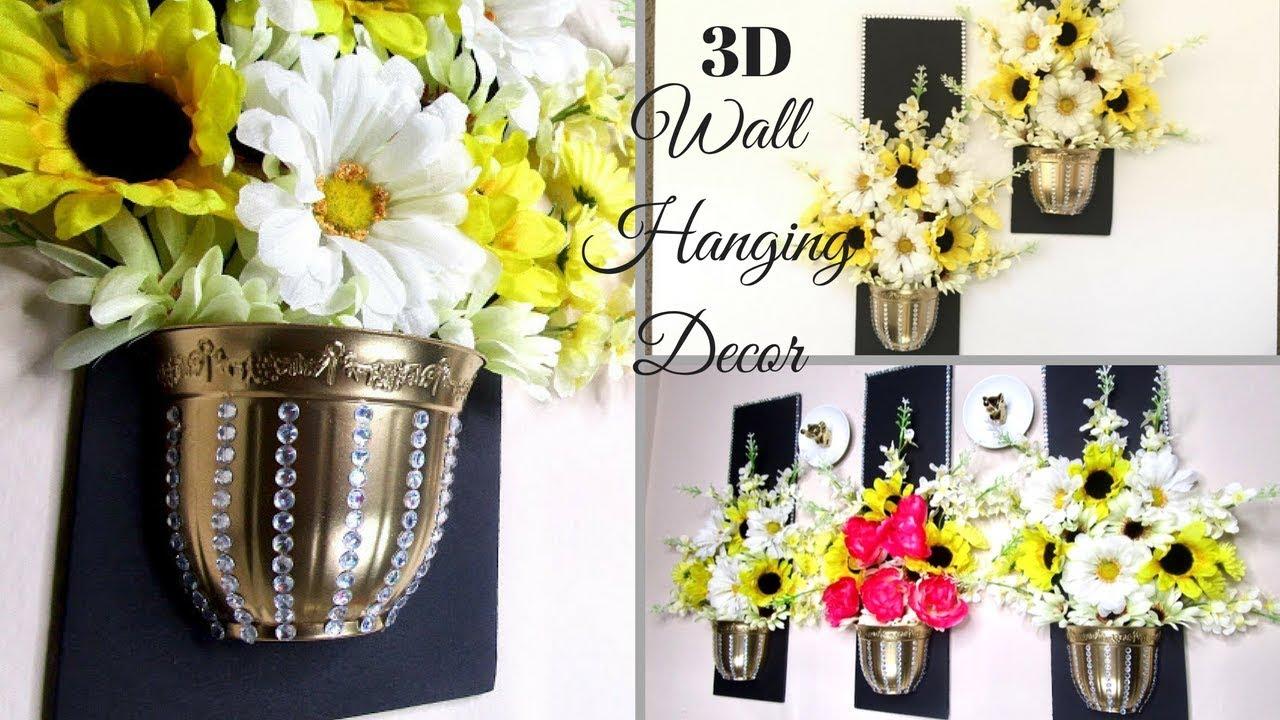 Diy 3D Wall Decor Using Dollar Tree Items| Wall Decorating Ideas!