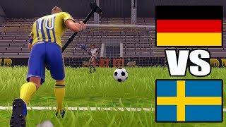 Deutschland gegen Schweden - Fortnite Fußball WM 2018 Elfmeter schießen!