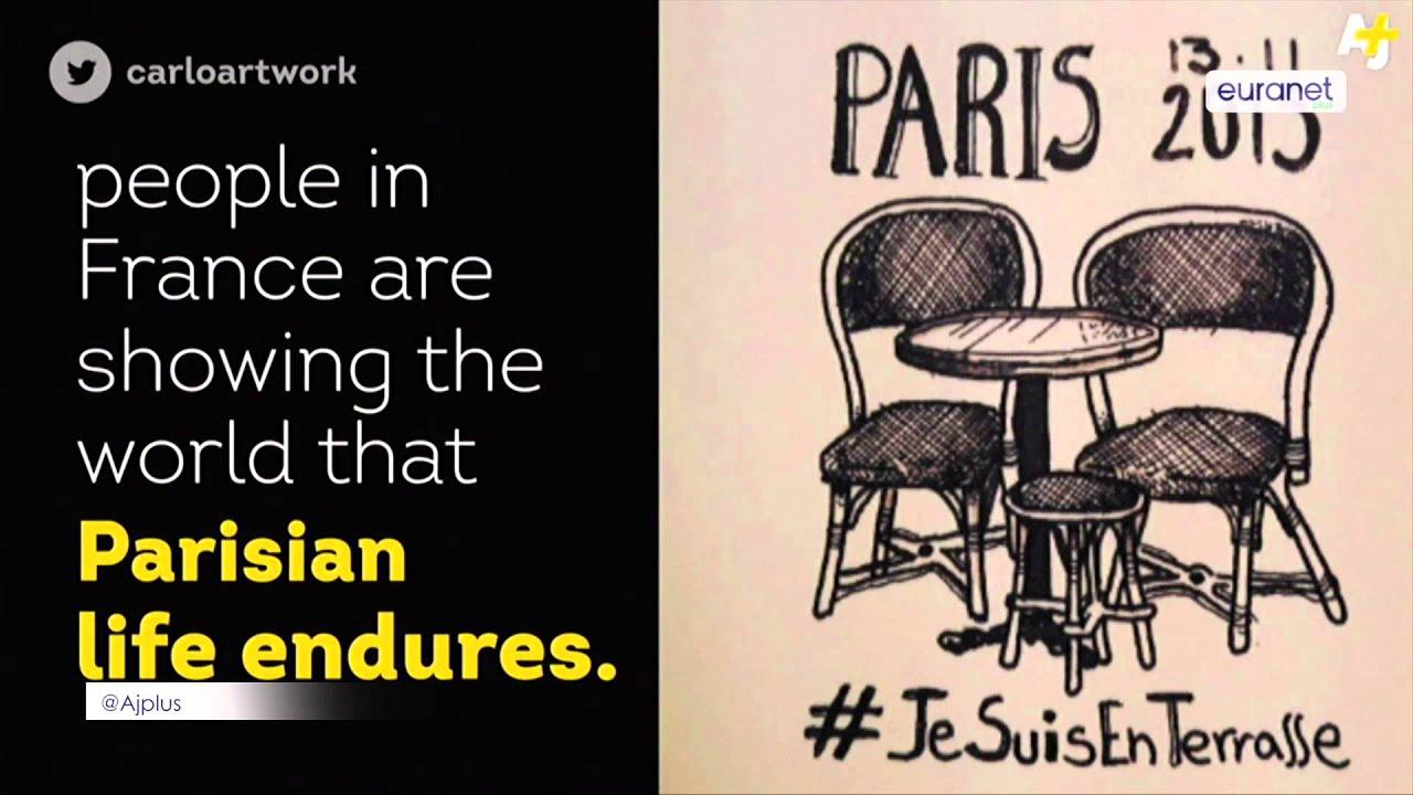 Je Suis En Terrasse euphoria: 'living' to respond to paris attacks and to defeat terrorism