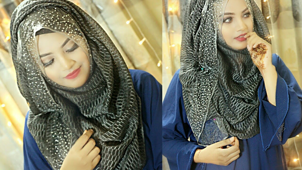 Easy Hijab Style For Party Wear Ft Nowreen Hijabian Youtube
