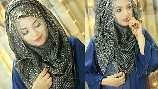 Easy hijab style for party wear || Ft. Nowreen Hijabian