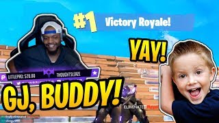 KingRichard Gets Cutest 7 Year Old Kid His 1st WIN! - Fortnite Best and Funny Moments