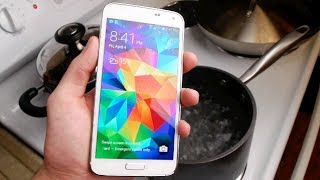 Samsung Galaxy S5 Boiling Hot Water Test