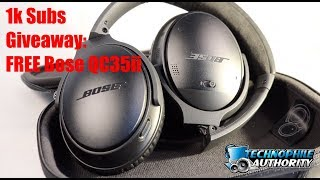 1k Subscriber Giveaway Contest: FREE QC35 Series ii (2018) - CLOSED