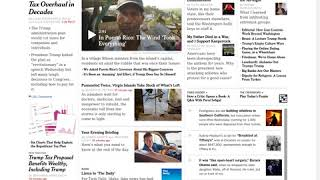 The front page of The New York Times website, September 9 to October 8, 2017 (Long Version)