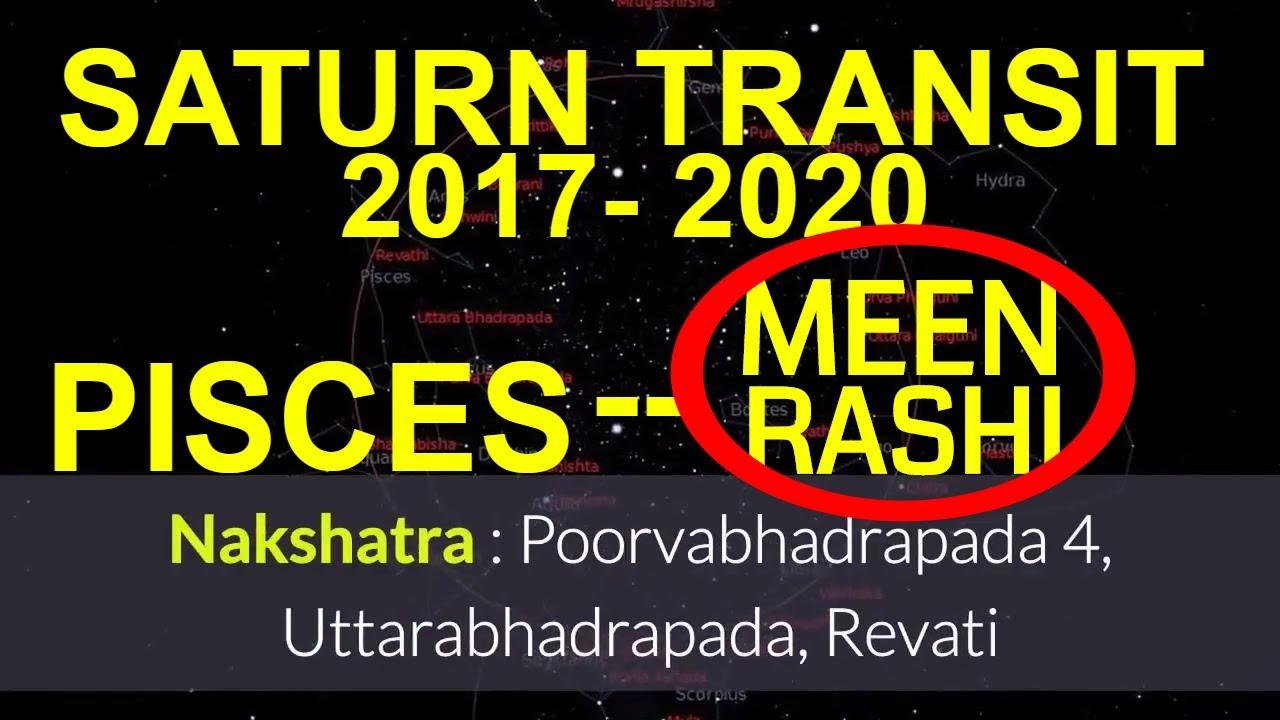 SATURN (SHANI) TRANSIT 2017- 2020 IN SAGITTARIUS, EFFECTS FOR PISCES (MEEN  RASHI) MOON SIGN