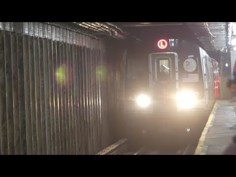 BMT Canarsie Line: R143 & R160A-1 L Trains at Bedford Ave-N 7th St (PM Rush Hour)
