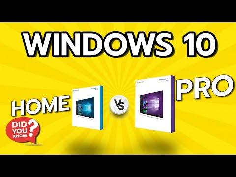 Windows 10 Home Vs Pro ต่างกันยังไง ?