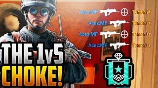 1v5 CHOKE! - DIAMOND RANKED MOMENTS - RAINBOW SIX SIEGE - OPERATION BLOOD ORCHID