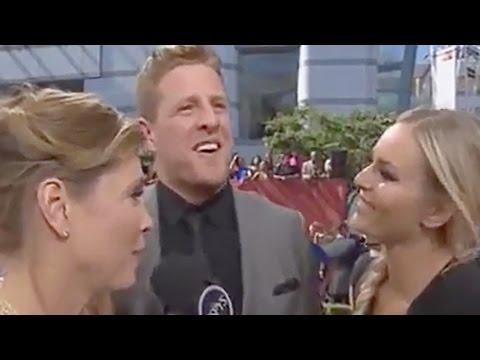J.J. Watt Interview Gets Awkward After Lindsey Vonn Makes Sexual Joke