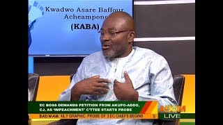 EC Boss demands petition from Akufo-Addo... - Badwam Mpensenpensenmu on Adom TV (12-12-17)