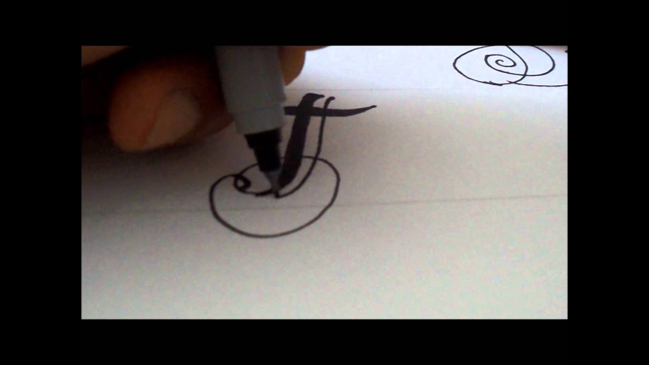 How To Draw A Fancy Swivereled Letter F