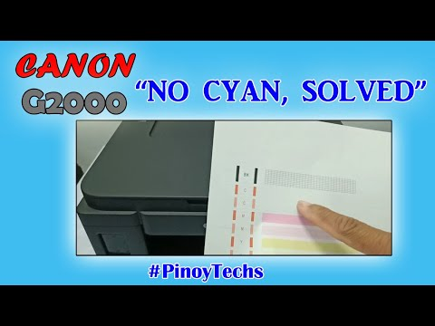 Cannot Print Cyan Color | How To Solve | Canon G2000 | @PinoyTechs