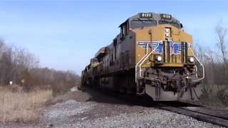 UP Mixed Freight Train Past Private Railroad Crossing