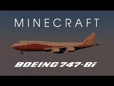 Minecraft Boeing 747 8i Sunrise Livery Hd 1080p Youtube