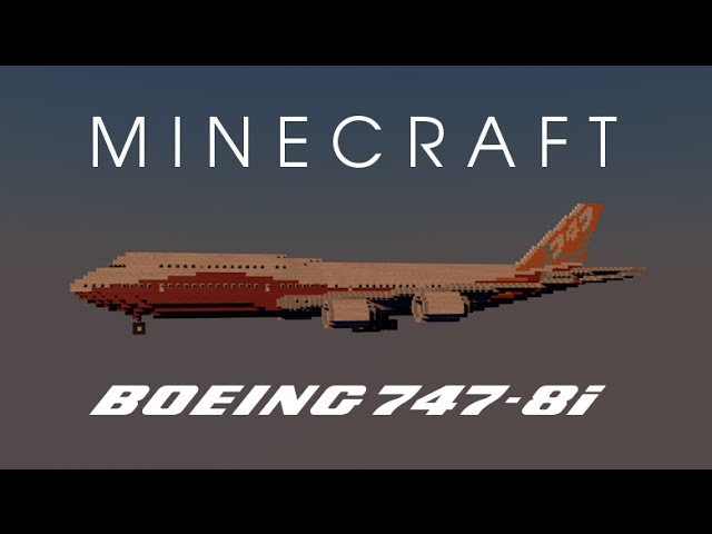 Minecraft Boeing 747 400 United Airlines Post Merger Livery