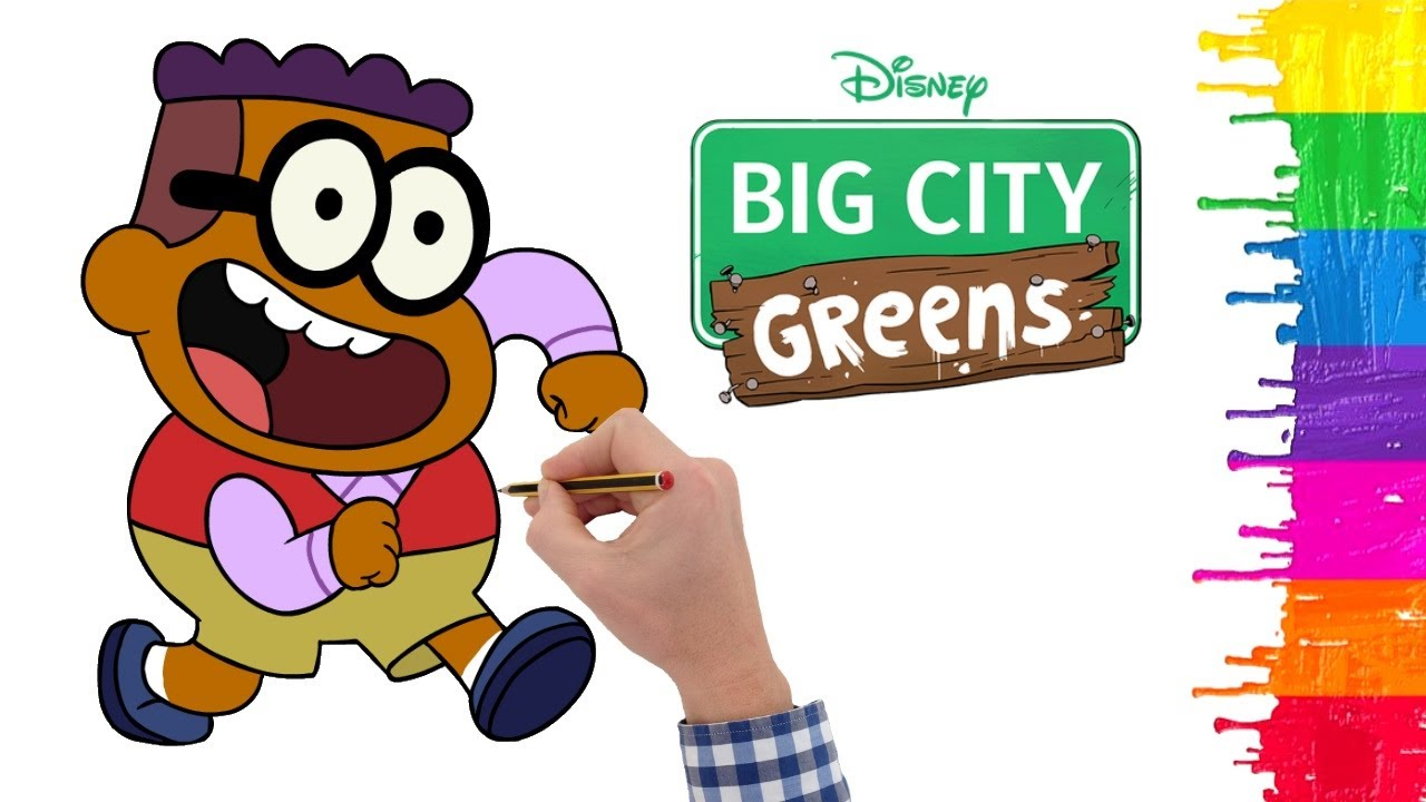 How to draw Big City Greens - Greens Characters - Alice nasıl çizilir