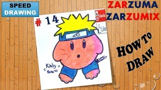 SPEED DRAWING HOW TO DRAW KIRBY NARUTO EASY AND FAST # 14