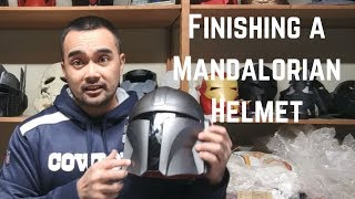 Finishing a 3d Printed Mandalorian Helmet