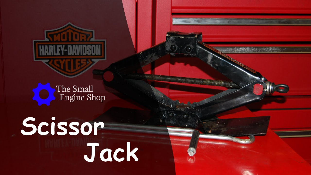 Using a Scissor Jack with Lift for Motorcycle Maintenance