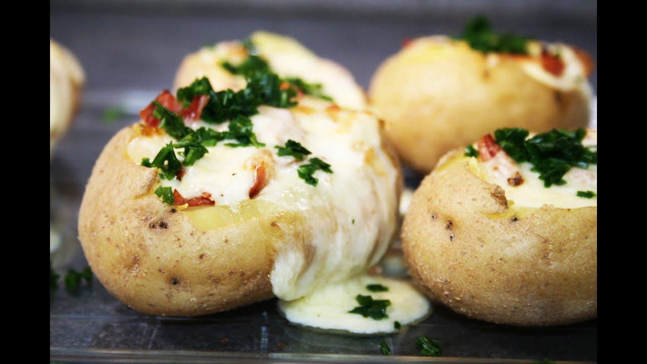 Pommes de terre bacon et fromage au four youtube - Pommes de terre coupees au four ...