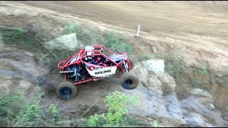 UTV RACERS BOMB DOWN A GNARLY MAN MADE HILL