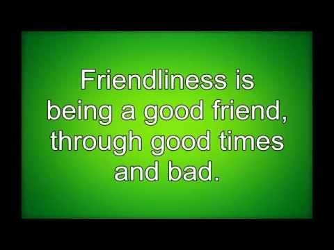 Virtue - Friendliness