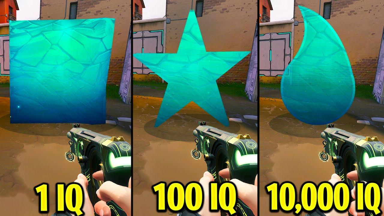1 IQ VS 100 IQ VS 10,000 IQ Players - Valorant