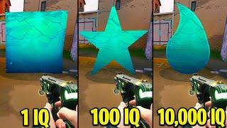 1 IQ VS 100 IԚ VS 10,000 IQ Players - Valorant