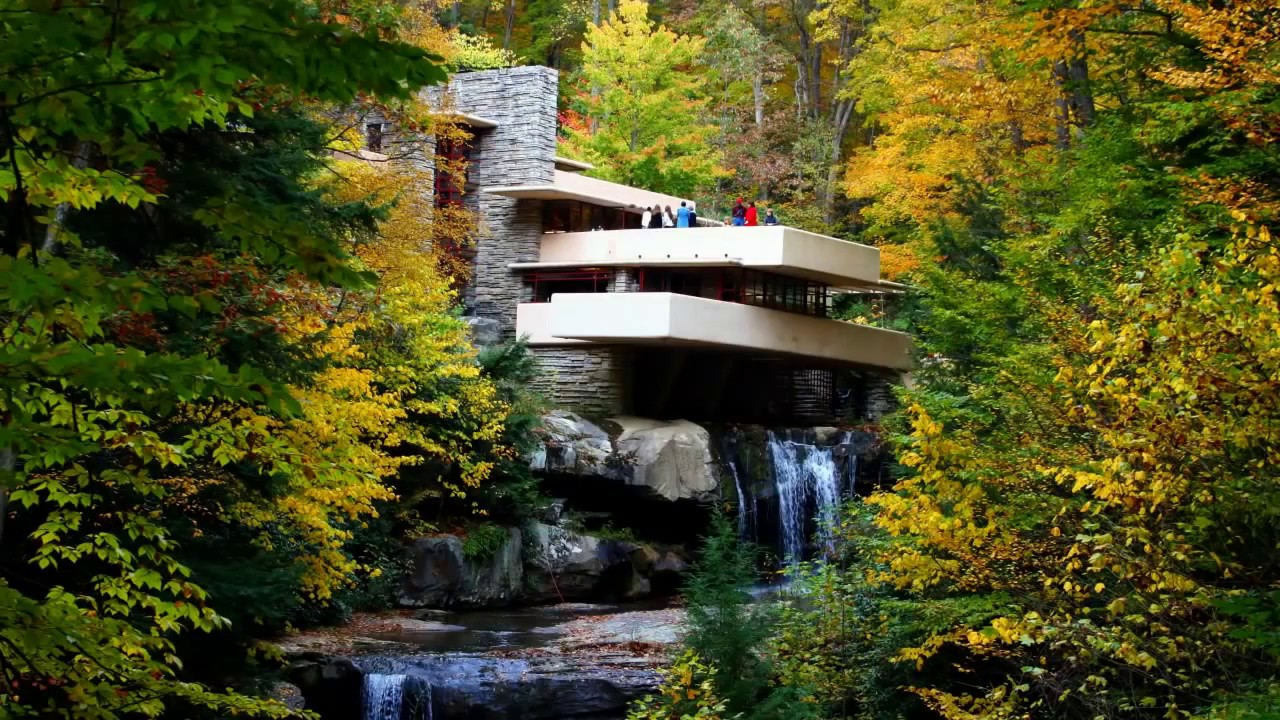 Fallingwater House Over Waterfall Frank Lloyd Wright