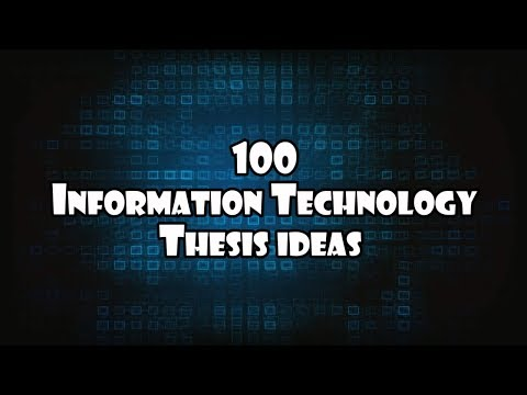 100 Thesis Title And Idea For Information Technology Capstone Project