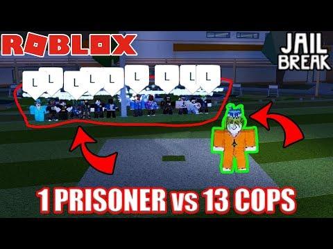 ULTIMATE ESCAPE Challenge (1 PRISONER vs 13 COPS)   Roblox Jailbreak