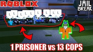 ULTIMATE ESCAPE Challenge (1 PRISONER vs 13 COPS) | Roblox Jailbreak
