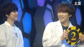 [FanCam] Sungmin Kyuhyun Tense moments, SJM Happy Camp Recording 130326