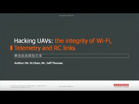 Cyberspectrum Melbourne #5: Hacking UAVs: the integrity of Wi-Fi, Telemetry and RC links