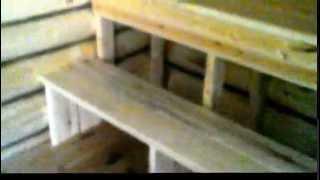 Баня из сруба 3х3 с 2-х метровым предбанником компания Усадьба(Законченный проект бани из сруба 3х3 с утепленным предбанником из евровагонки., 2014-06-21T14:18:51.000Z)