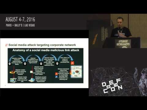 "Packet Hacking Village 2016, ""Attacks on Enterprise Social Media"" by Mike Raggo"