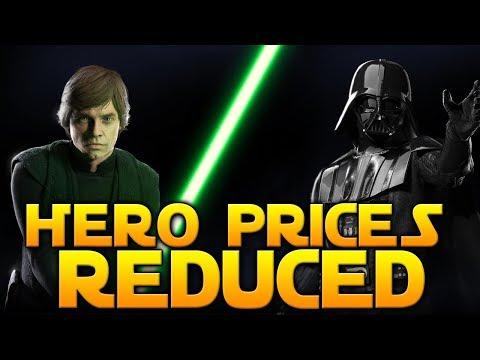 HERO COSTS REDUCED 75% - EA RESPONDS! - Star Wars Battlefront 2