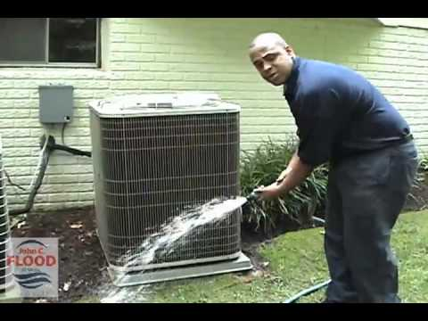 John C Flood Home Air Conditioning Condenser Cleaning Video You
